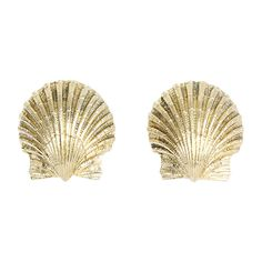 Pre-Owned Tiffany & Co. Schlumberger 18k Yellow Gold Shell Earrings ($2,700) ❤ liked on Polyvore featuring jewelry, earrings, gold, gold earrings, yellow gold earrings, sea shell earrings, 18 karat gold jewelry and tri color earrings