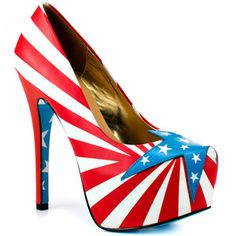 Brossie Heels Red White, $149, now featured on Fab.