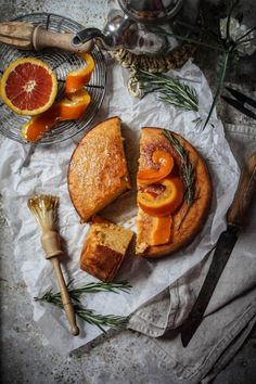 Whole Blood Orange Semolina Cake with Rosemary