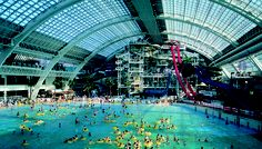 With dozens of slides, a bungee jump, and a wave pool, the West Edmonton Mall World Water Park is the perfect place to cool off on a hot summer day.