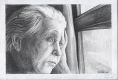 ожидание: живопись, реализм, портрет, графика #visualarts #realism #portrait #graphics #drawing #graphicarts