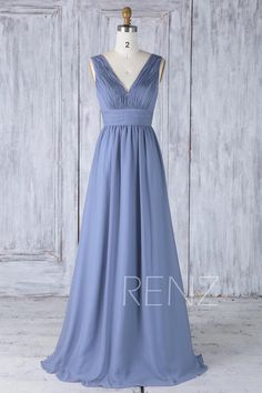 Infinity Bridesmaid Dress Steel Blue Wedding Dress Convertible Top Chiffon Wrap Dress Ruched V Neck A-line Backless Multiway Dress Infinity Dress Bridesmaid, Bridesmaid Dresses, Prom Dresses, Bridesmaids, Formal Dresses, Tulle Dress, I Dress, Wrap Dress, Party Dress