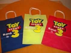 TOY STORY BIRTHDAY party favor bags or gift bags by BeyondBalloons, $24.00