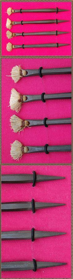 Antique Japanese negishi shuriken.  samuraiantiqueworld.com