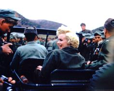 (156) Twitter A rare photograph of Marilyn Monroe in Korea, 1954