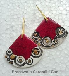 porcelain earrings, steampunk jewerly, handmade jewerelly, Ceramic Jewelry, Jewelry Ideas, Jewerly, Steampunk, Porcelain, Ceramics, Earrings, Handmade, Bags