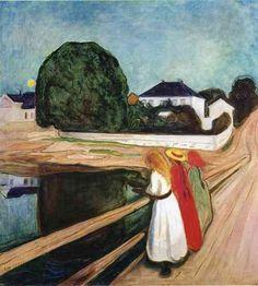 Edvard Munch, The Girls on the Bridge, 1927