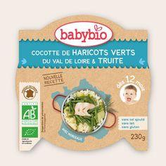 Mon p'tit Plat - Cocotte de Haricots Verts du Val de Loire & Truite  - dès 12 mois - Produit en France - Babybio