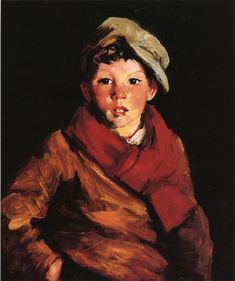 """""""Cafferty,"""" Robert Henri, ca. 1926, oil on canvas, 23¾ x 19¾"""", private collection."""