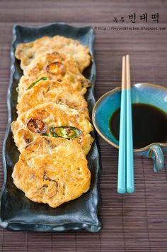 Bindaetteok:  Korean Savory Mung Bean Pancakes
