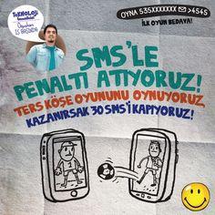 Şimdi Ters Köşe oynama zamanı! SMS ile penaltı atıyoruz, kazanırsak 30 SMS'i kapıyoruz! Detaylar burada: http://gnc.ly/UDIqNN - Teknoloji Temsilcisi Oğuzhan