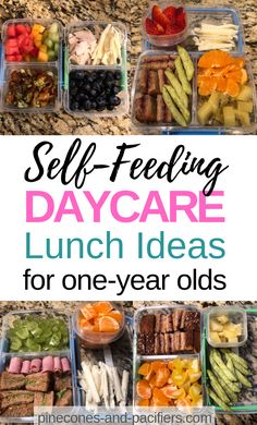 Recipes Snacks Lunch Ideas Self-Feeding Daycare Lunch Ideas for One Year Olds. What to pack your toddler for daycare lunch? I'm sharing my one-year-old self-feeding daycare lunch ideas for busy moms with young toddlers! Daycare Meals, Kids Meals, School Lunches, Baby Meals, Baby Food Recipes, Healthy Dinner Recipes, Chicken Recipes, Healthy Toddler Meals, Toddler Lunch Recipes