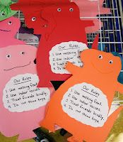 The Day the Monster Came to School - classroom rules follow up activity