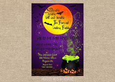 halloween invitation halloween digital by HolidayHearthDesigns, $14.00