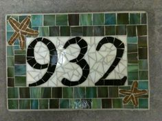 Custom Mosaic Address Plaque on Etsy, $104.00