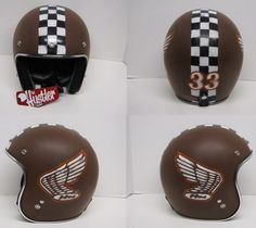 DISTRESSED LIDS - OLD SCHOOL HELMETS & Custom Paint