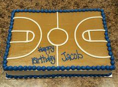 Basketball Court Boys BIrthday Cake