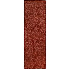 @Overstock.com - Candice Olson Loomed Red Floral Plush Wool Rug (2'6 x 8') - Hand-carved details highlight this contemporary hand-loomed Candice Olson rug. The dark red color of this rug is accented by a carved floral pattern.  http://www.overstock.com/Home-Garden/Candice-Olson-Loomed-Red-Floral-Plush-Wool-Rug-26-x-8/5714236/product.html?CID=214117 Add to cart to see special price