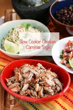 Slow Cooker Chicken Carnitas Style #glutenfree #healthy