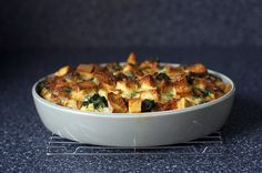 spinach and cheese strata by smitten, via Flickr