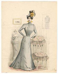 1895-1898, Plate 140 :: Costume Institute Fashion Plates