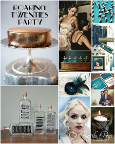 "Party like it's the Prohibition.. flappers, speakeasies and hard liquor. Perfect way to say goodbye to your ""Roaring Twenties"" for your 30th Birthday!           Great idea from: shannanigansblog.com"