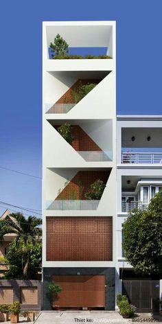 House facade modern exterior design Ideas for 2019 Design Exterior, Exterior House Colors, Facade Design, Modern Exterior, Diy Exterior, Exterior Stairs, Shadow Architecture, Interior Architecture, Concept Design Architecture