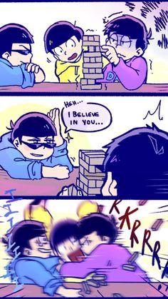 I think Karamatsu is to 'cool' for his own good, poor Jyuishimatsu! Lol to ichimatsu
