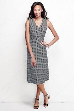 Lands' End Women's Matte Jersey Wrap Dress