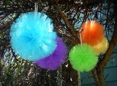 Large Tulle Pom Pom Balls Unique handmade by princessdoodlebeans