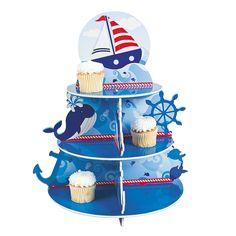 1st Birthday Sailor Cupcake Holder - OrientalTrading.com