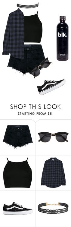"""""""Untitled #47"""" by victoriajassan ❤ liked on Polyvore featuring Alexander Wang, H&M, Boohoo, Current/Elliott, Vans and Humble Chic"""