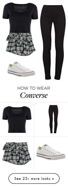 """""""Too Bad So Sad"""" by addietay on Polyvore featuring Boohoo, Faith Connexion, J Brand and Converse"""