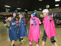 Some MVP capes I sewed for last weekends bout  #LittleSteelDerbyGirls