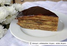 Gesztenyekrémes csúsztatott palacsinta Hungarian Recipes, Pancakes, Breakfast, Food, Morning Coffee, Pancake, Meals, Yemek, Eten