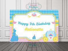 Cinderella Backdrop / Cinderella Birthday by UnlimitedPartyThemes