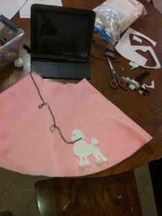 How to make a No-Sew Poodle Skirt       Pin It    For our 50's Sock Hop birthday party  I made 10 poodle skirts as dress-up favors for the ...
