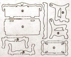 Printable Miniature Furniture; puzzle like style