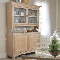 """Somerset Bay Jekyll Island Cupboard  Cupboard measures 72""""W x 22""""D x 89""""H  Interior of base measures 62.75""""W x 15.75""""D x 31""""H  Hutch depth measures 12""""D  Hutch recess from base measures 4""""D  Open space between top of buffet and bottom of hutch measures 11.5""""H"""