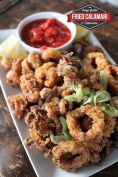 Fried Calamari with Marinara Sauce