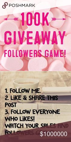100K GIVEAWAY FOLLOWERS GAME! Please join me with my goal to reach 100k followers!! When I reach my goal I will be hosting a fabulous giveaway so please stay tuned!!  -Post your tag list -Please follow me! -Like this post and follow everyone who has liked it!  ✨Watch your sales and followers GROW! ✨  Find me on Instagram for my giveaway on there as well! @seahighmarket ♥️ Dresses
