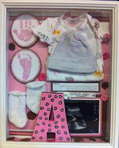 Newborn shadow box for my sweet niece Aubrey Joy
