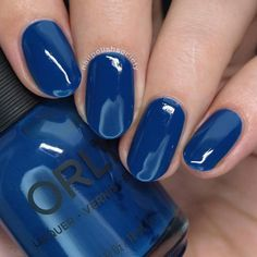 """I reviewed the @orlynails Velvet Dreams Fall 2017 collection on my blog. I'm sharing a few of my favorites here. This is Blue Suede, a deep muted royal blue jelly creme. A great addition to my ever growing collection of blues."" - @nailpolishsociety"