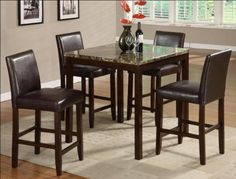 5PC ANISE COUNTER HEIGHT DINING SET *** Learn more by visiting the image link.(It is Amazon affiliate link) #Kitchengoods
