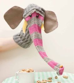 Elephant Sock Puppet #crafts #animals