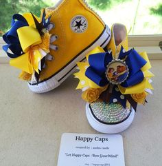Belle Beauty and the Beast Bow/Shoe Toppers by HappyCaps2014