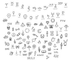 Stick 'N Poke - these would be cute finger tattoos or just lots of filler if you had the space: Small Quote Tattoos, Small Tattoos With Meaning, Small Arm Tattoos, Trendy Tattoos, Cute Tattoos, New Tattoos, Tattoos For Guys, Tattoo Small, Tatoos