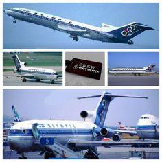 Olympic Airways Boeing 727 collage of vintage photos
