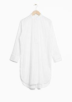 & Other Stories   Striped Jacquard Shirt Dress