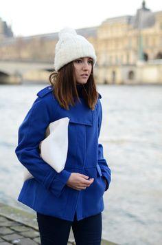 ice blue & white